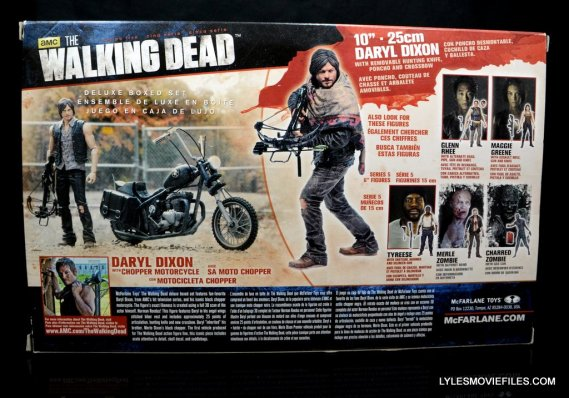 Daryl Dixon Walking Dead deluxe figure -back package