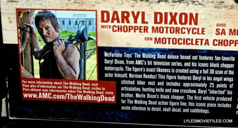 Daryl Dixon Walking Dead deluxe figure -bio
