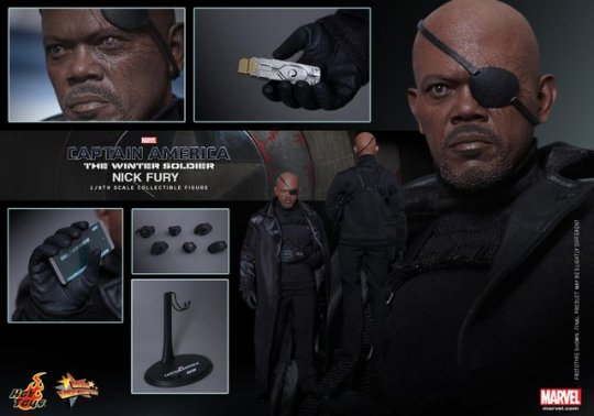 Hot Toys Captain America Winter Solider Nick Fury figure - collage