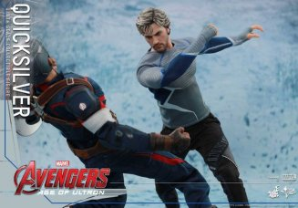 Hot Toys Quicksilver figure -fighting Captain America