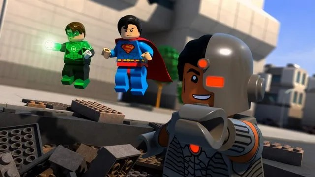 Justice League Attack of the Legion of Doom - Green Lantern, Superman and Cyborg