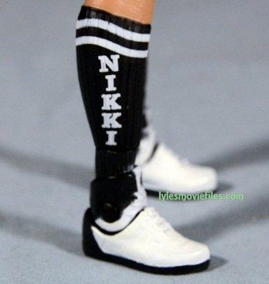 Nikki Bella Mattel WWE figure - Nikki sock detail