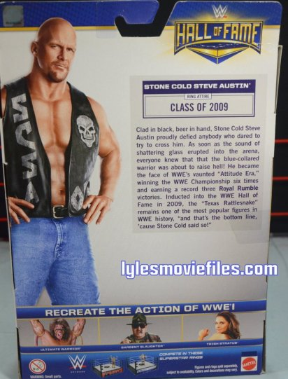 Stone Cold Steve Austin Hall of Fame -rear package