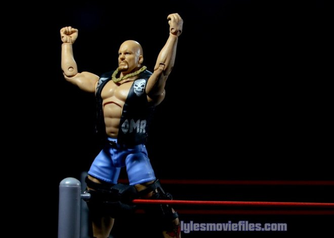 Stone Cold Steve Austin Hall of Fame -standing on turnbuckle