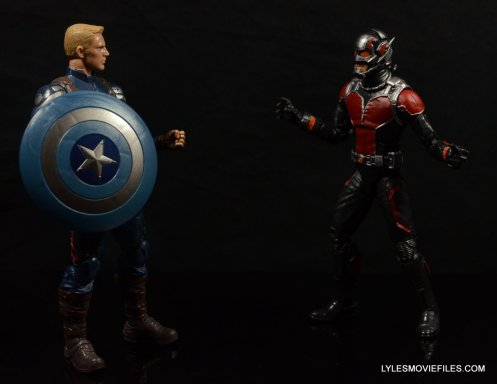 Ant-Man Marvel Legends figure review - meeting Captain America
