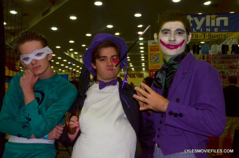 Baltimore Comic Con 2015 cosplay - 66 Batman Riddler, Penguin and Joker