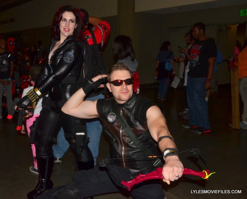 Baltimore Comic Con 2015 cosplay - Black Widow and Hawkeye