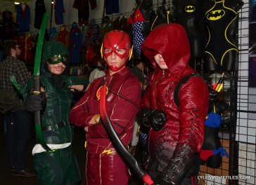 Baltimore Comic Con 2015 cosplay -Green Arrow, Flash and Arsenal