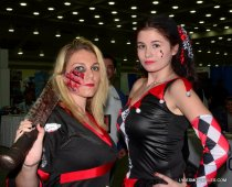 Baltimore Comic Con 2015 cosplay -Jason Voorhies and Harley Quinn
