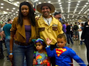 Baltimore Comic Con 2015 cosplay -Michonne, Rick Grimes and family