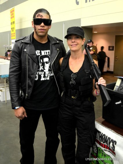 Baltimore Comic Con 2015 cosplay -Terminator and Sarah Connor