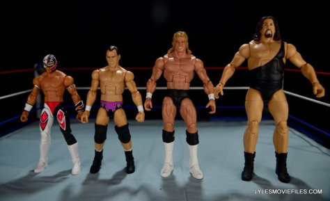 Dean Malenko WWE Elite 37 - scale shot with Rey Mysterio, Lex Luger and The Giant
