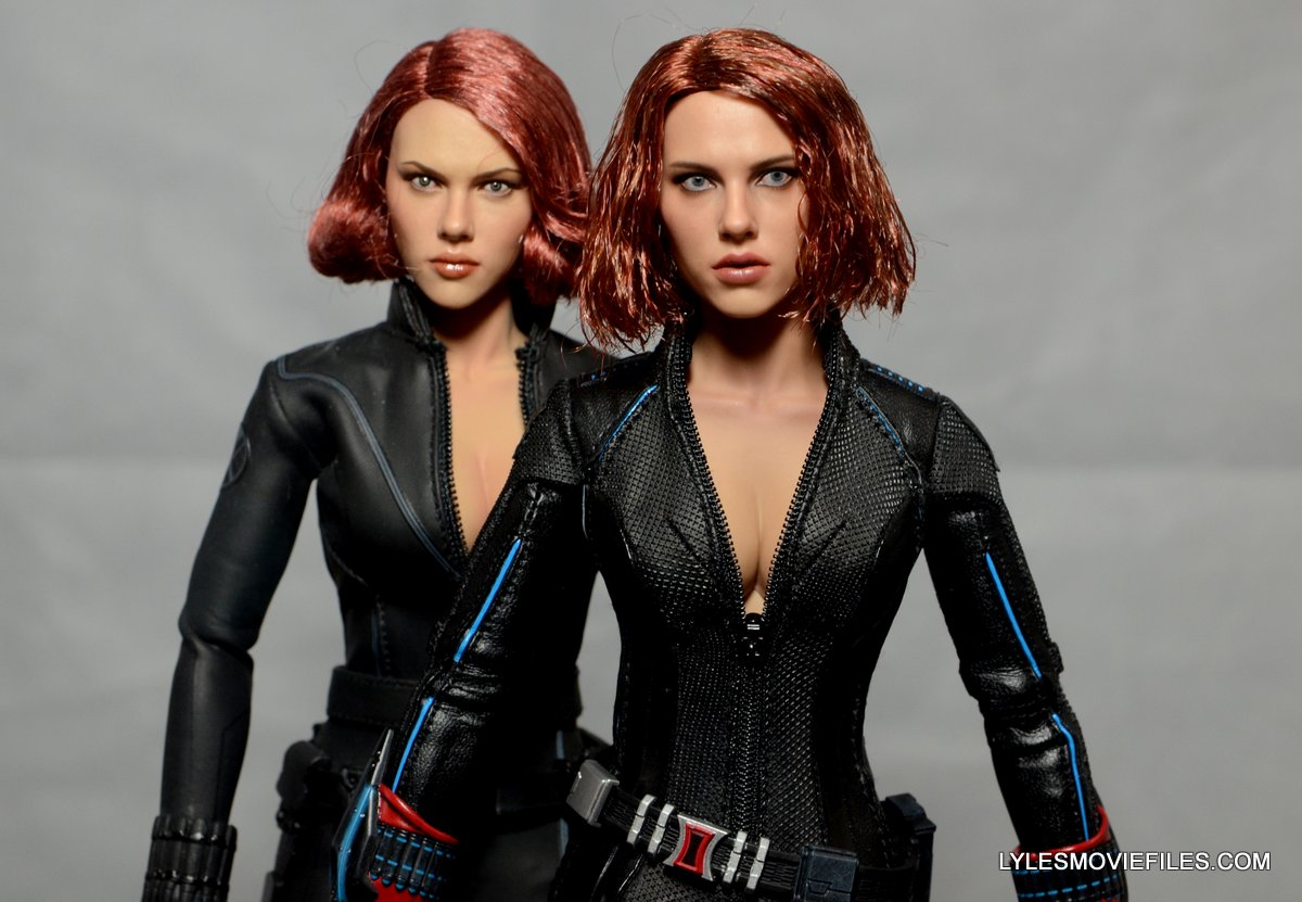 hot toys avengers age of ultron black widow close up