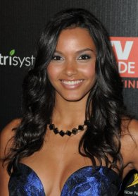 Jessica Lucas -blue shell dress