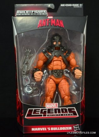 Marvel Legends Bulldozer review - front package