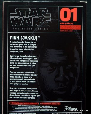 Star Wars Black Series - Finn review -back package