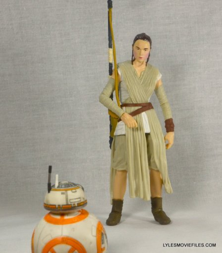 Star Wars Black Series Force Awakens Rey and BB-8 -hanging with BB-8