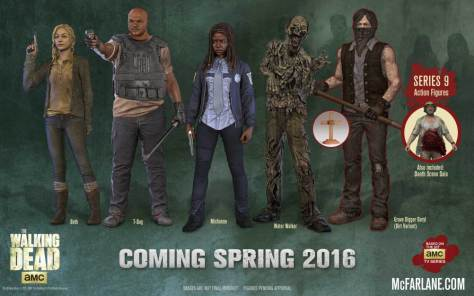 The Walking Dead Series 9 McFarlane full lineup
