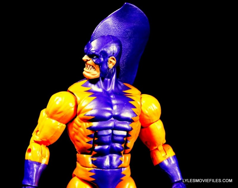 Tiger Shark Marvel Legends figure review - head to the side