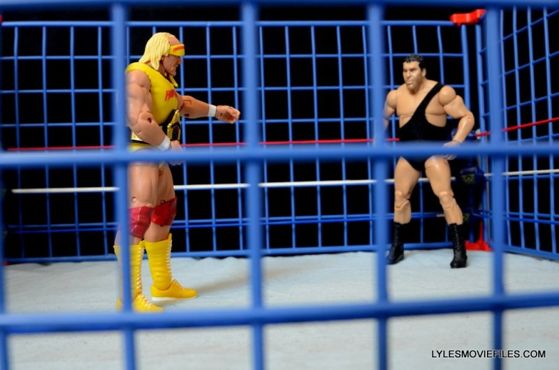 Wicked Cool Toys authentic classic cage -Hogan faces off with Andre the Giant