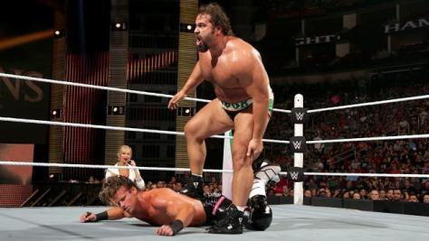 WWE Night of Champions - Rusev vs Ziggler