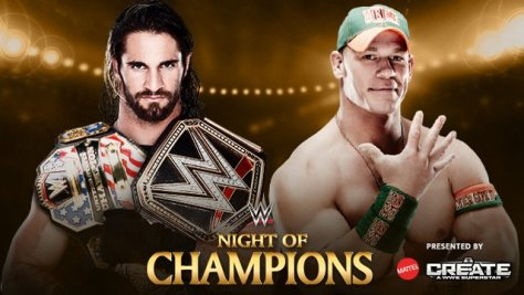 WWE Night of Champions - Seth Rollins vs John Cena