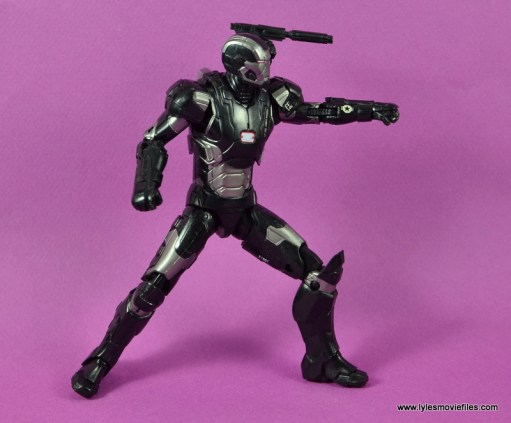 Marvel Legends Age of Ultron War Machine figure review - aiming