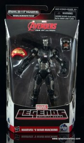 Marvel Legends Age of Ultron War Machine figure review - front package