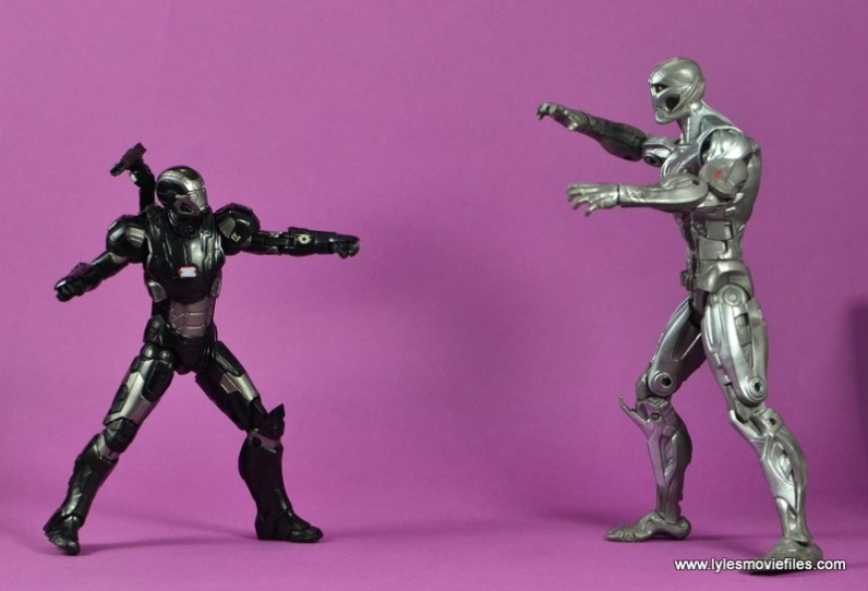 Marvel Legends Age of Ultron War Machine figure review - vs Ultron