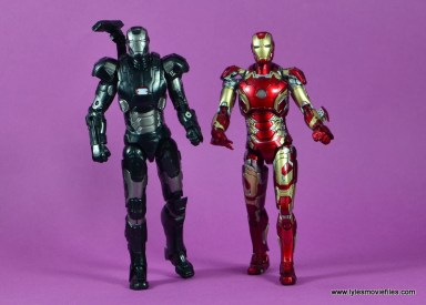 Marvel Legends Age of Ultron War Machine figure review - walking with Iron Man