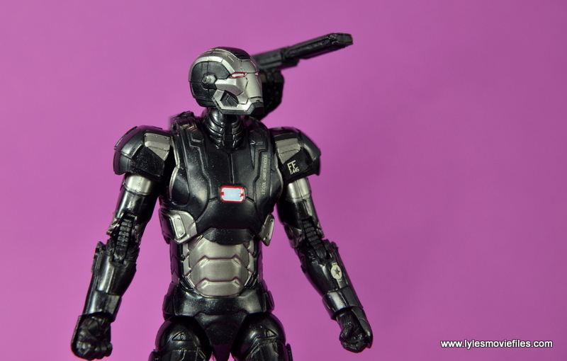 Marvel Legends Age of Ultron War Machine figure review - wide shot