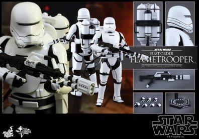 Hot Toys Star Wars Force Awakens First Order Flametrooper -collage