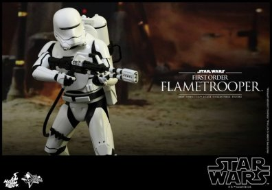 Hot Toys Star Wars Force Awakens First Order Flametrooper -wide shot