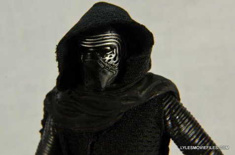 Kylo Ren Force Awakens Star Wars Black Series -head sculpt close up