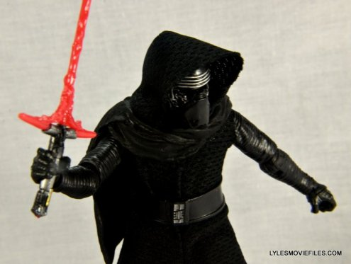 Kylo Ren Force Awakens Star Wars Black Series -raising lightsaber