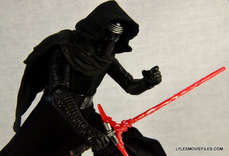 Kylo Ren Force Awakens Star Wars Black Series -ready for attack