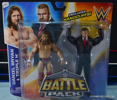 Mattel WWE Battle Pack - Triple H vs Daniel Bryan - front package