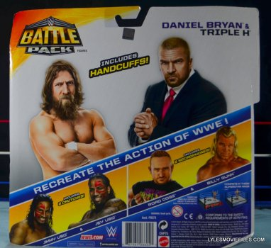 Mattel WWE Battle Pack - Triple H vs Daniel Bryan -rear package