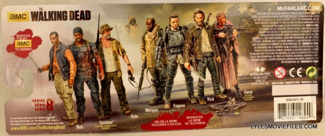 McFarlane Toys Walking Dead Rick Grimes Series 8 -back package