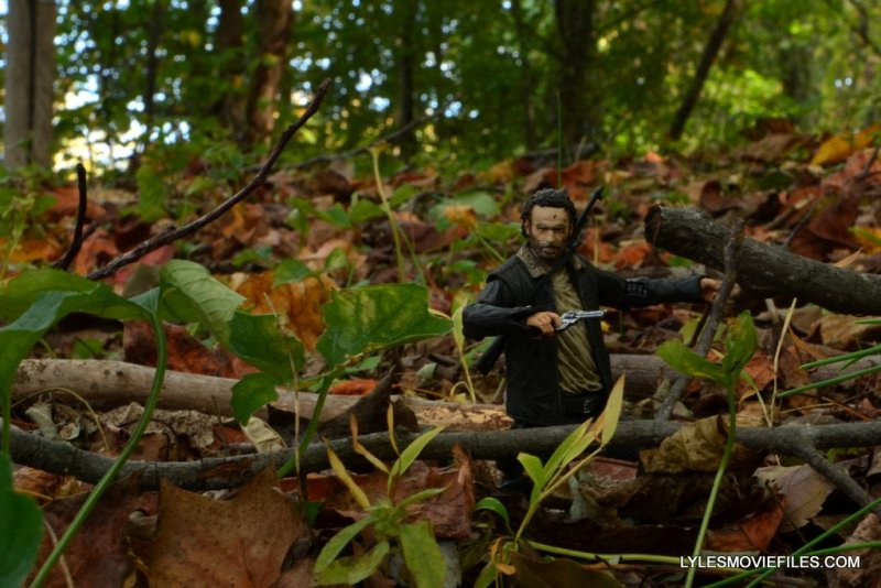 McFarlane Toys Walking Dead Rick Grimes Series 8 -marching through woods