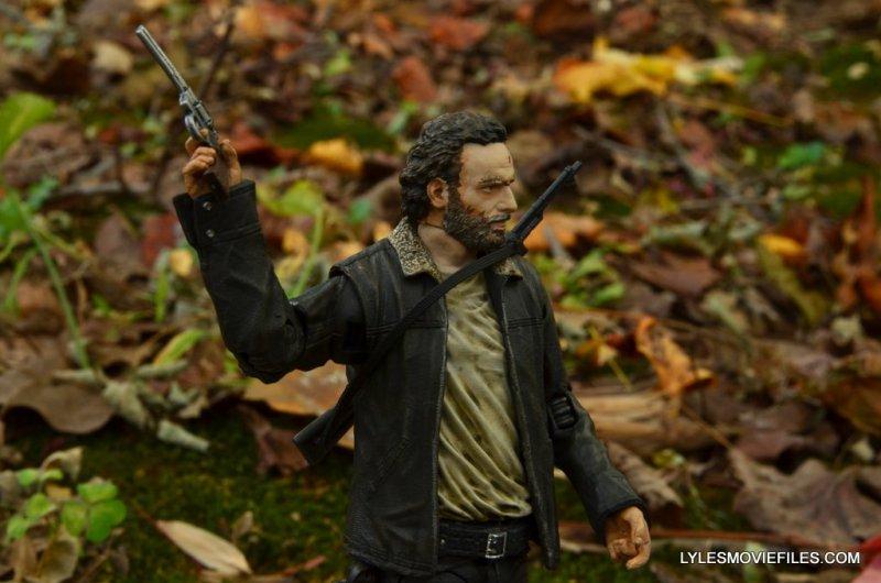 McFarlane Toys Walking Dead Rick Grimes Series 8 -raising magnum gun