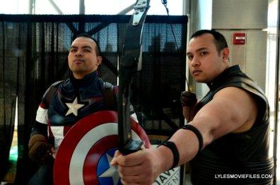 New York Comic Con 2015 cosplay - Captain America and Hawkeye