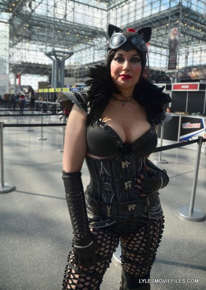 New York Comic Con 2015 cosplay - Catwoman leather