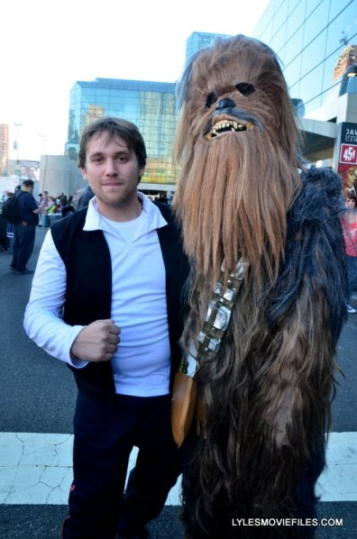 New York Comic Con 2015 cosplay - Han Solo and Chewbacca