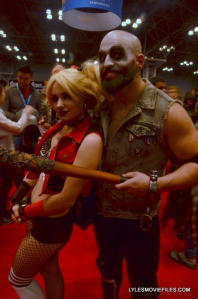 New York Comic Con 2015 cosplay -Harley and Joker bald