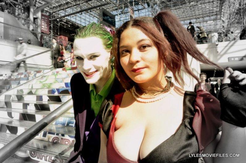 New York Comic Con 2015 cosplay -Heath Ledger Joker and Harley Quinn