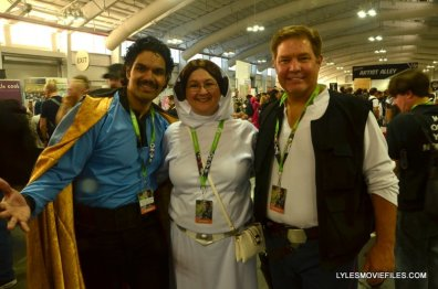 New York Comic Con 2015 cosplay -Lando, Princess Leia and Han Solo