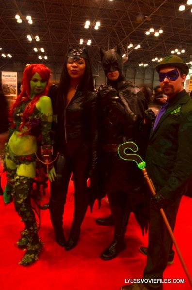 New York Comic Con 2015 cosplay -Poison Ivy, Catwoman, Batman and Riddler