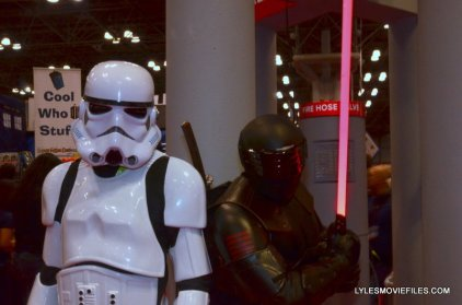 New York Comic Con 2015 cosplay - Stormtrooper and Snake Eyes