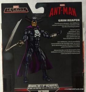 Marvel Legends Grim Reaper - back package